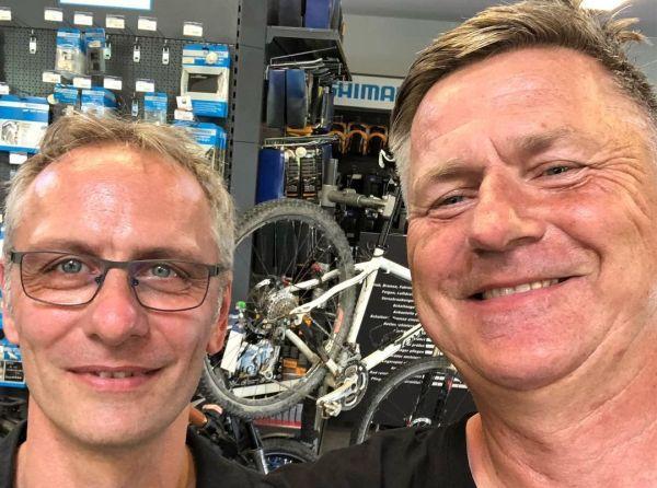 Jürgen von Jürgens Bikeshop und Gunnar