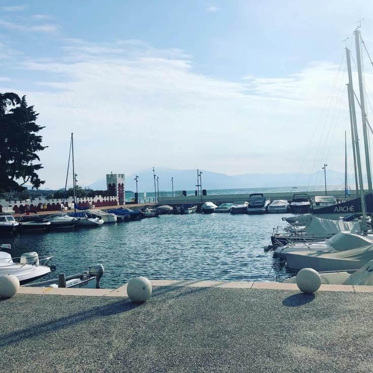 Morgens am Segelhafen vom Gardasee