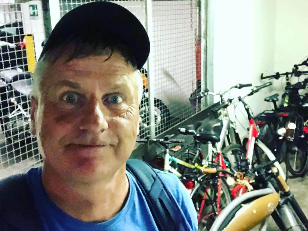 Gunnar freut sich über Bike-Ladebereich